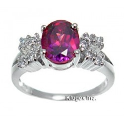 Sterling Silver Ring With Mystic CZ Size 6