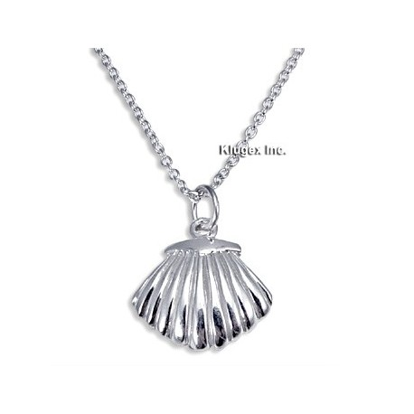 Sterling Silver Seashell Pendant with Chain