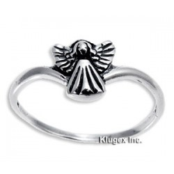 Sterling Silver Ring With Angel Size 9