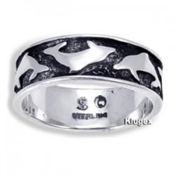 Sterling Silver Rings With Dolphins