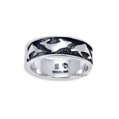 Sterling Silver Rings With Dolphins Size 5