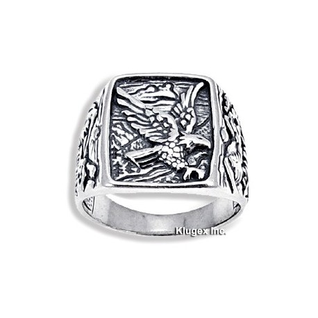 Sterling Silver Ring with Eagle Size 9