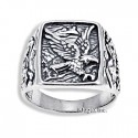 Sterling Silver Ring with Eagle