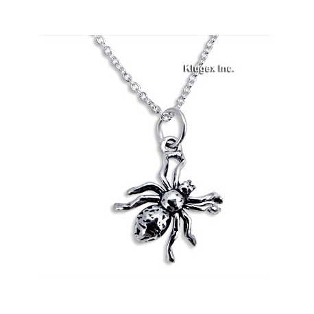 Sterling Silver Spider Pendant with Chain