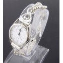 Sterling Silver Ladies Toggle Watch