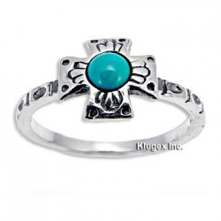 Sterling Silver Ring with Turquoise Size 6