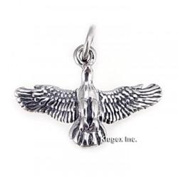 Sterling Silver Flying Eagle Pendant