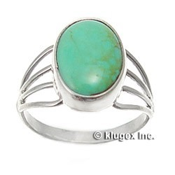 Southwestern Sterling Silver & Turquoise Ring Size 7