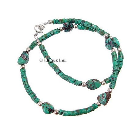Southwest Sterling Silver & Turquoise Necklace