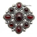 Sterling Silver Pendant With Garnet