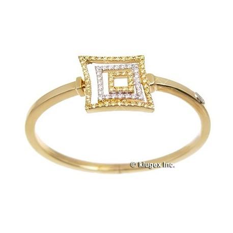 14K Gold Bracelet With Yellow & White CZ