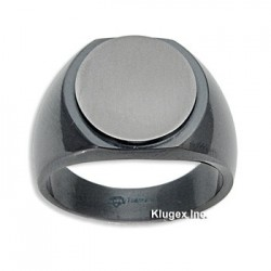 Black Titanium Ring Size 10.5
