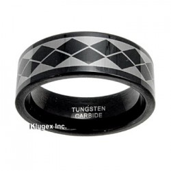 Black Tungsten Carbide Band Ring Size 7