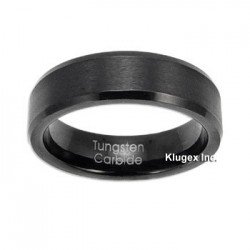 Black Tungsten Carbide Band Ring