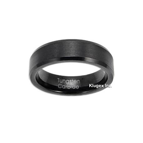 Black Tungsten Carbide Band Ring Size 10.5