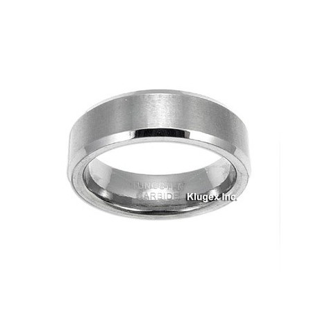 Tungsten Carbide Band Ring Size 6