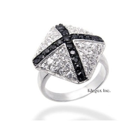 Sterling Silver Ring With CZ Size 6