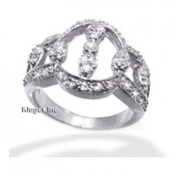 Sterling Silver Ring With CZ Size 9