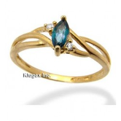 Gold Ring With Mystic Topaz Size 7