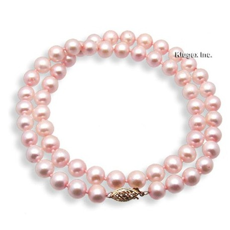 14k Gold Pink Freshwater Pearl Necklace