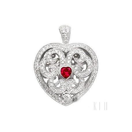 Sterling Silver Heart Locket Pendant