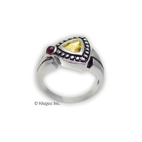 Sterling Silver Ring With Citrine Size 6