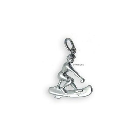 Sterling Silver Surfer Pendant