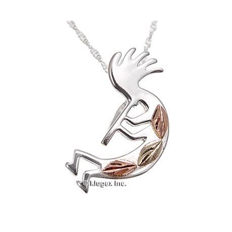 Black hills gold on silver kokopelli pendant with necklace black hills gold on silver kokopelli pendant w necklace aloadofball Choice Image