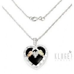 Black Hills Gold Sterling and 12K Gold Heart Pendant