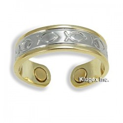 Adjustable Magnetic Copper Ring with Fish