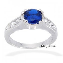 Sterling Silver Ring W/ Blue Spinel Size 6