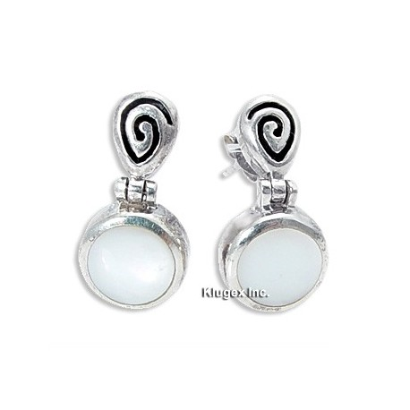 Sterling Silver and MOP Earrings