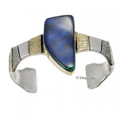 Sterling Silver & 14k Gold Cuff Bracelet
