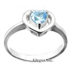 Sterling Silver Ring With Blue Topaz Size 7