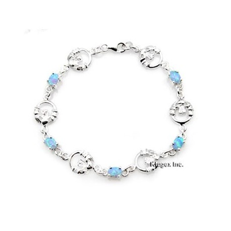 Sterling Silver Bracelet With Opal