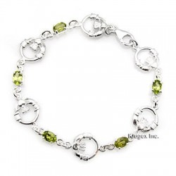 Sterling Silver Bracelet With Peridot