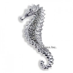 Sterling Silver Seahorse Pin