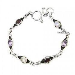 Sterling Silver Bracelet With Gemstone