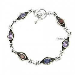Sterling Silver Bracelet With Gemstone