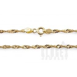 Vermeil Sterling Silver Chain 18 Inch