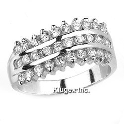 Sterling Silver Ring With CZ