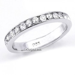 Sterling Silver White CZ Band Ring