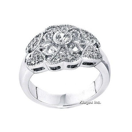 Sterling Silver Ring With CZ Size 5