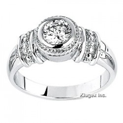 Sterling Silver Ring with Cubic Zirconia