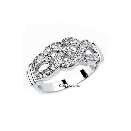 Sterling Silver & CZ Ring Size 5