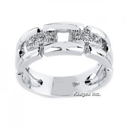 Sterling Silver Ring With CZ Size 7