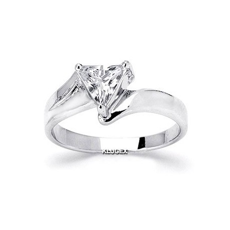 Sterling Silver Ring With Cubic Zirconia Size 7