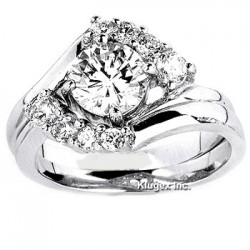 Sterling Silver Ring Set with Cubic Zirconia