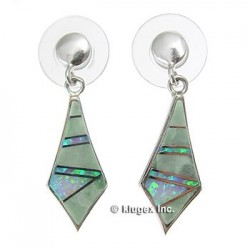 Southwest Sterling Silver & Inlay Earrings