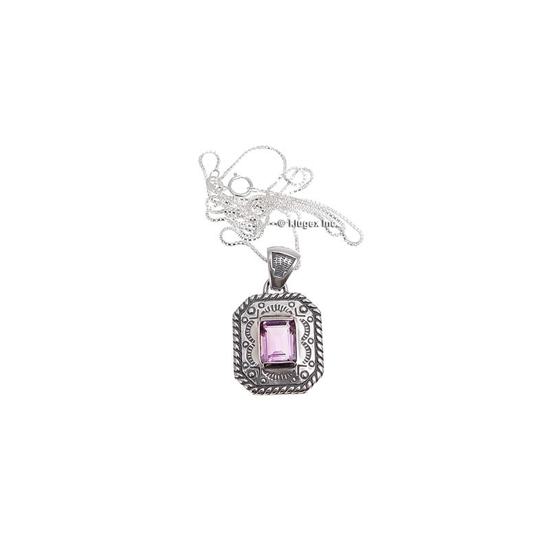 products octagon necklace halsmen pendant